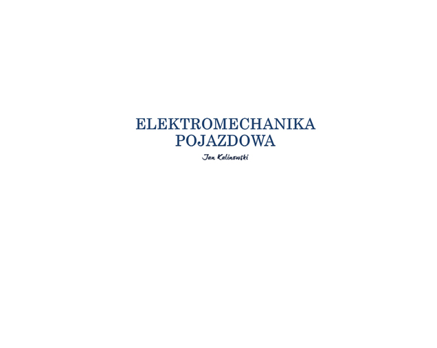 Elektromechanika Pojazdowa Jan Kalinowski