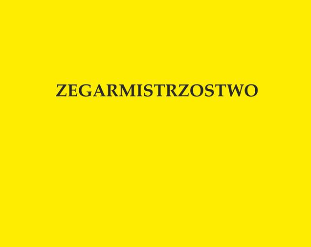 ZEGARMISTRZOSTWO mgr Małgorzata Fijałkowska