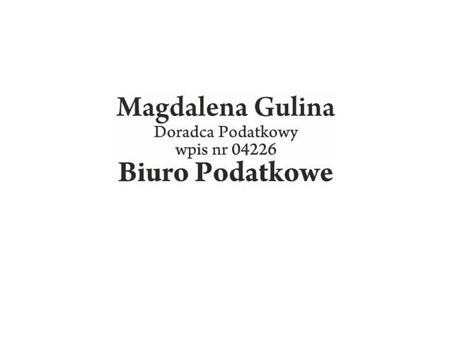 Biuro Podatkowe Gulina Magdalena – KG Consulting