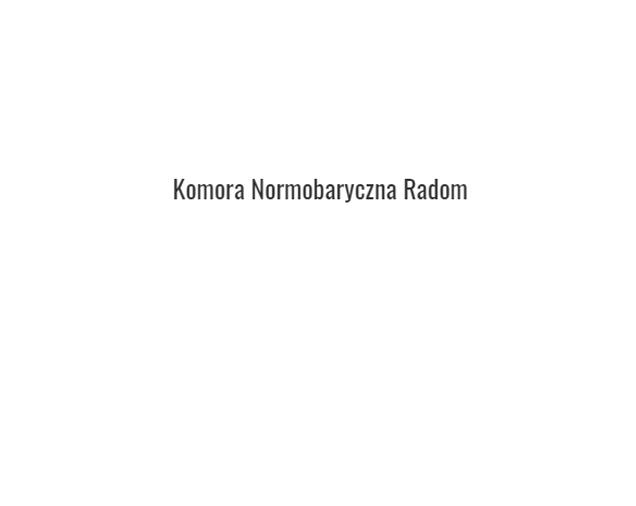Komora Normobaryczna RADOM